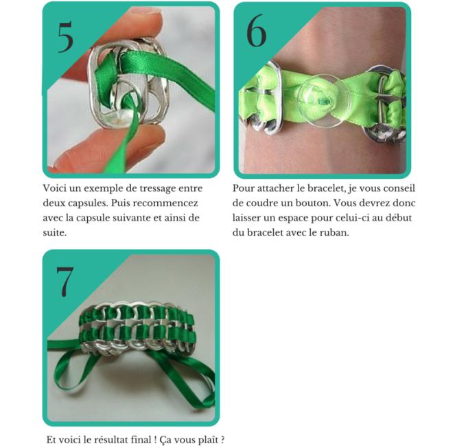 DIY Bracelet en capsules de canette Le blog de Marie-Louise
