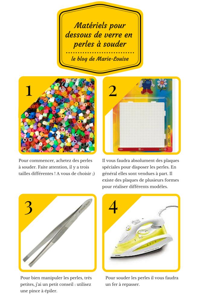 DIY Dessous de verre en perles à souder Le blog de Marie-Louise