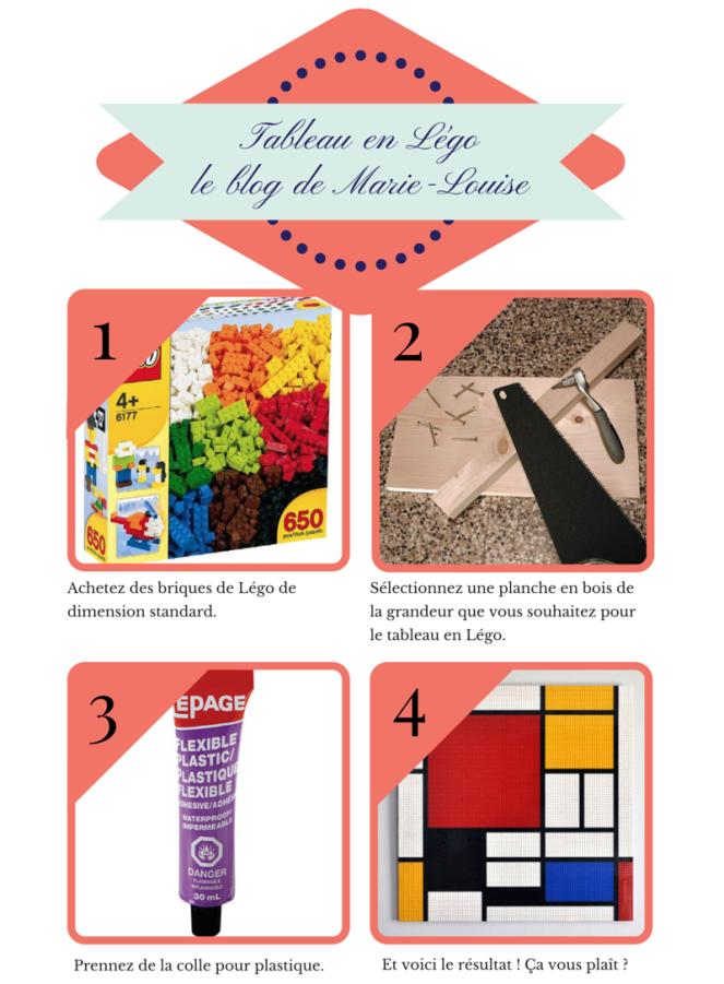 DIY Tableau en Lego Le blog de Marie-Louise
