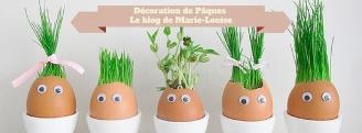 Oeufs de Pâques en herbe Le blog de Marie-Louise