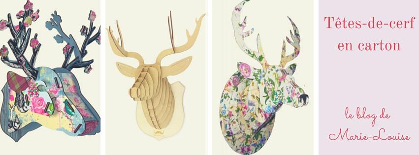 Têtes de cerf en carton le blog de Marie-Louise