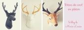 Têtes de cerf en plâtre le blog de Marie-Louise