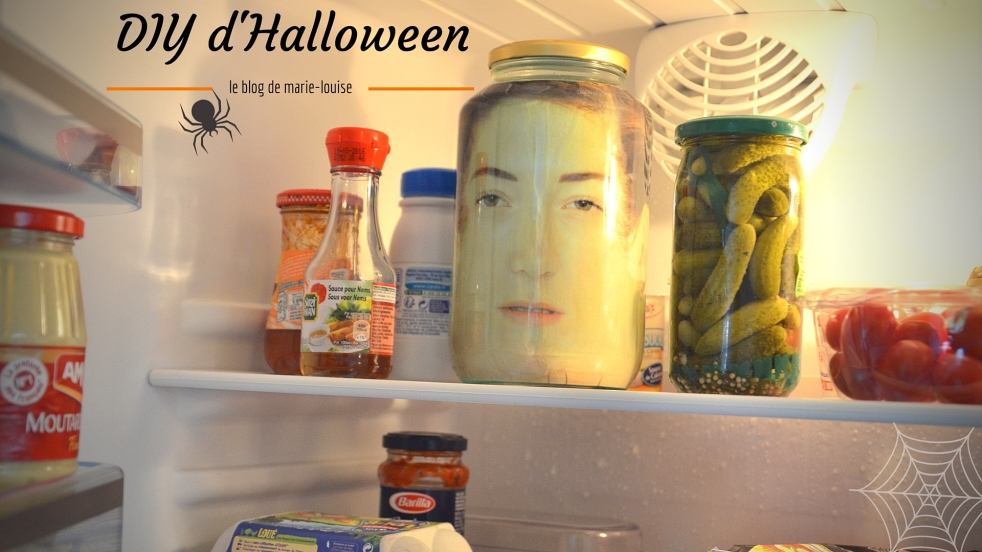DIY d'Hallowenn tete dans un bocal, le blog de marie-louise