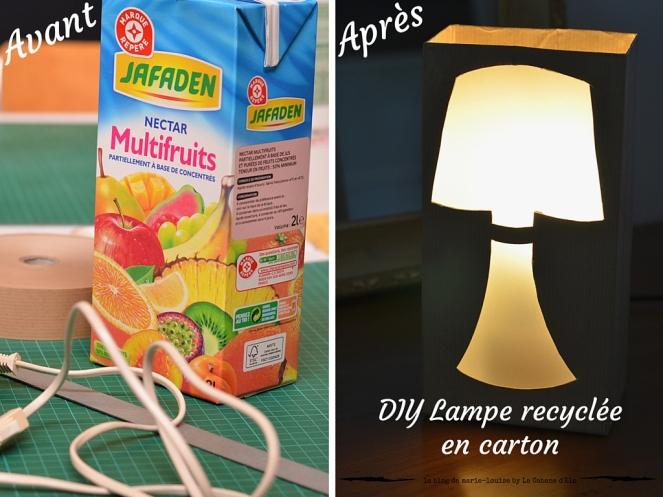 DIY Lampe recylée en carton le blog de marie-louise