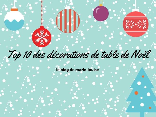 Décoration table de Noël le blog de marie-louise