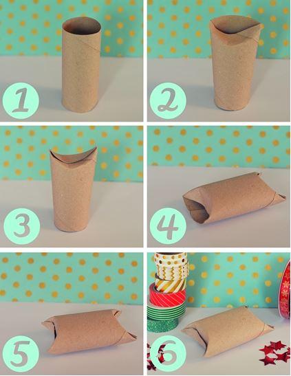 DIY boites à cadeau en rouleaux de PQ le blog de marie louise
