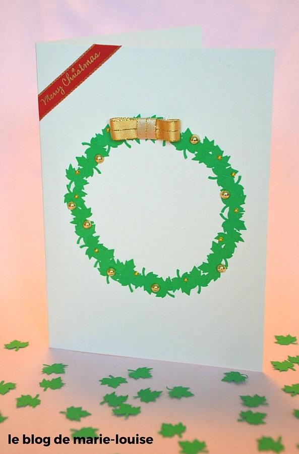DIY carte de voeux couronne de Noël le blog de marie-louise