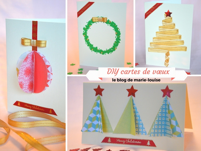 DIY cartes de voeux le blog de marie-louise