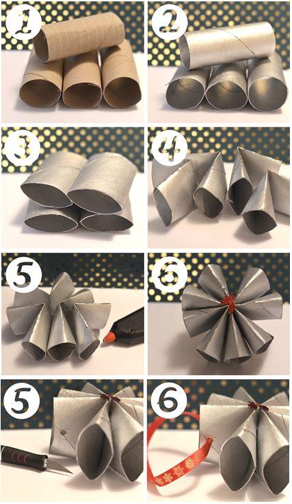 DIY fleurs en rouleaux de papier toilette le blog de marie louise