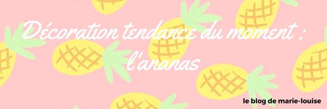 Déco tendance du moment ananas le blog de marie-louise