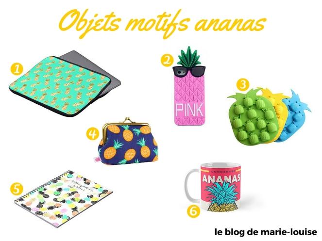 Déco tendance du moment objet motif ananas le blog de marie-louise