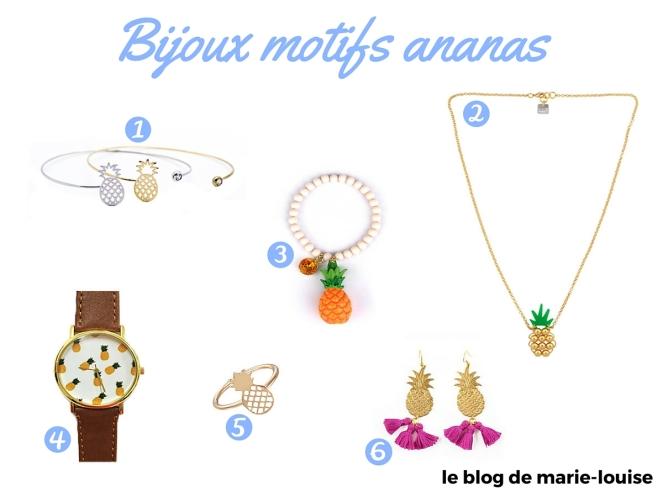 Décoration tendance du moment bijoux motif ananas le blog de marie-louise