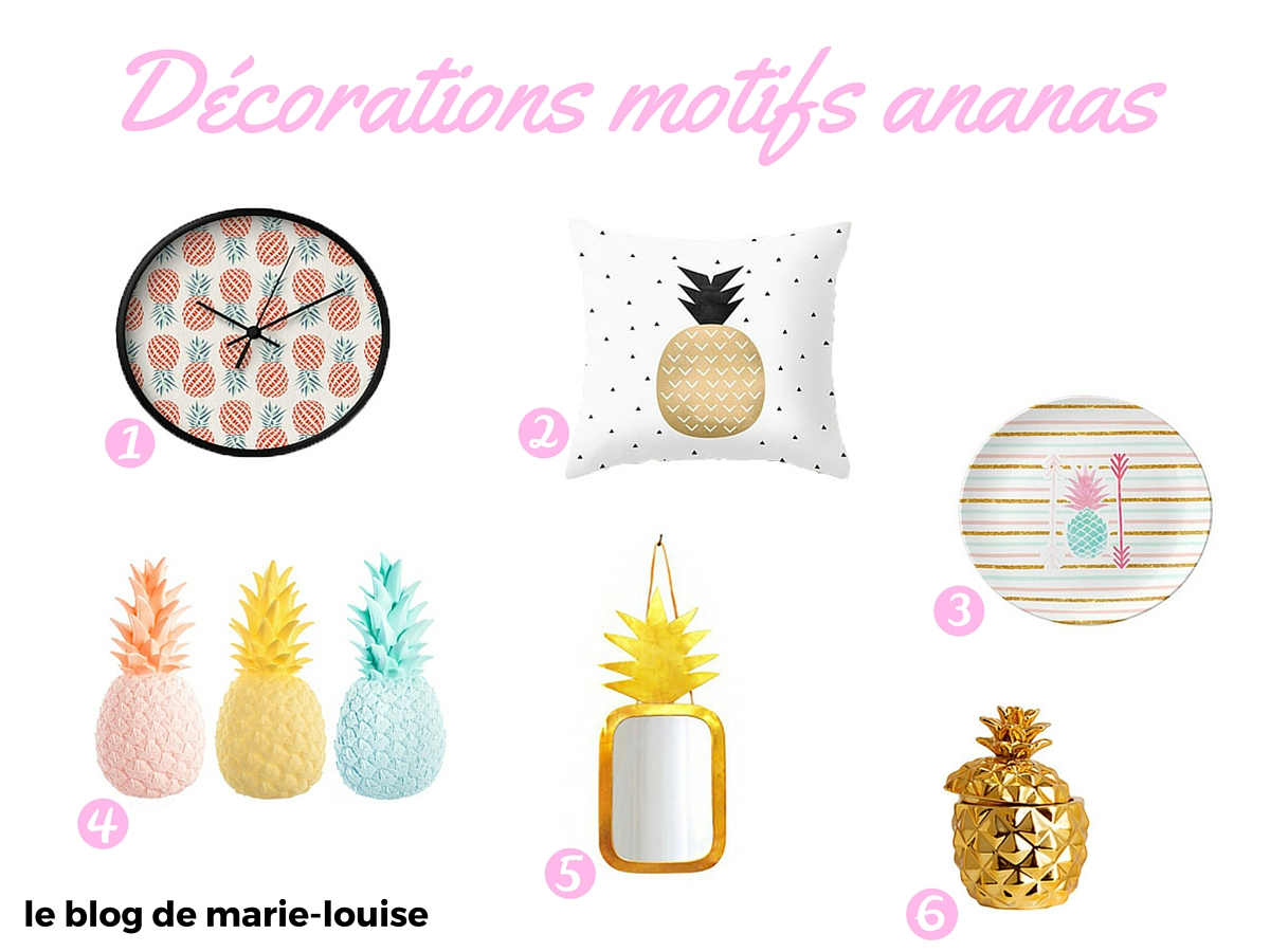 Top Tendance déco du moment : les motifs ananas – Le blog de Marie-Louise XQ89