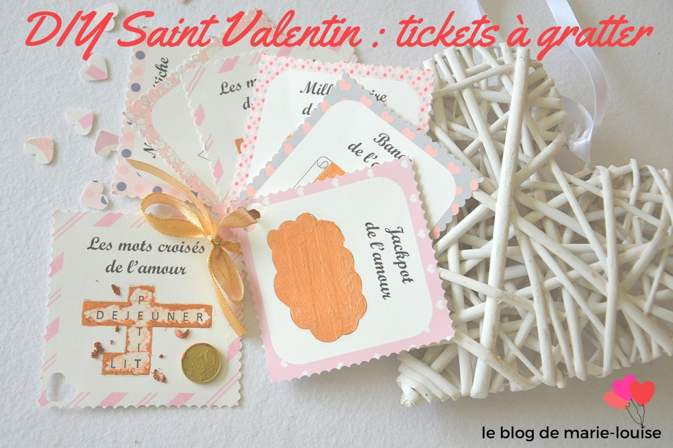DIY Saint Valentin tickets à gratter le blog de marie-louise